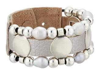 Leather Rock Koa Bracelet