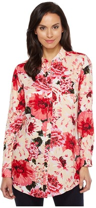Jag Jeans - Magnolia Tunic in Rayon Print Women's Blouse $69 thestylecure.com