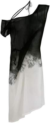 Ann Demeulemeester sheer blended dress