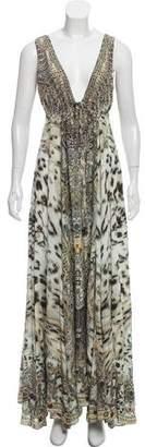 Camilla Embellished Silk Maxi Dress w/ Tags