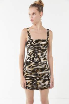 Motel Farlie Zebra Print Mini Dress