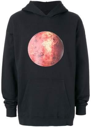 Paura planet-print oversized hoodie