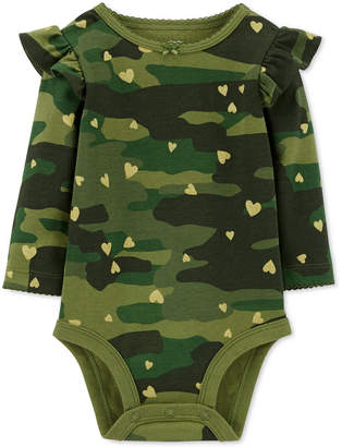 Carter's Baby Girls Camo-Print Cotton Bodysuit