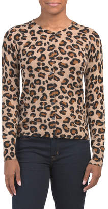 Cashmere Leopard Print Vintage Cardigan