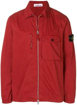 Stone Island flap pocket shirt jacket