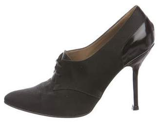 Marni Satin Pointed-Toe Oxfords