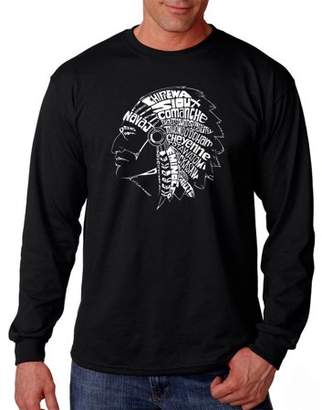 Pop Culture Los Angeles Pop Art Men's Long Sleeve T-Shirt - Popular Native American Indian Tribes