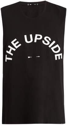 The Upside Big Logo crew-neck cotton tank top