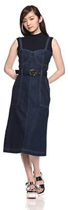 Lily Brown (リリー ブラウン) - [リリーブラウン]リメイクライクデニムワンピース LWFO182004 ウィメンズ DBLU 日本 1 (日本サイズ9 号相当)