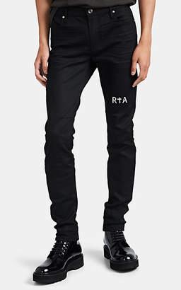 RtA Men's Articulated Raw-Denim Skinny Jeans - Black