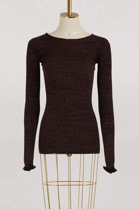 Celine Crew neck sweater in viscose and cotton