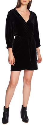 1 STATE 1.STATE Wrap Front Velvet Dress