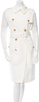 Jean Paul Gaultier Sleeveless Double-Breasted Trench Coat $175 thestylecure.com