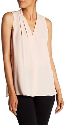 Vince Camuto Pleated V-Neck Tank Top