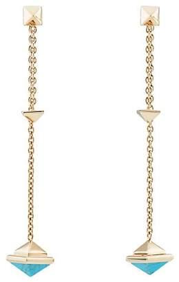 Valentino WOMEN'S PYRAMID-STUD DROP EARRINGS - GOLD