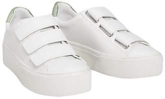 MANGO White 'Sol' Mid Platform Heel Trainers