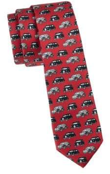 Burberry Stanfield Cars Silk Skinny Tie