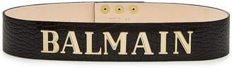 Balmain Embossed Leather Belt