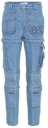 Balenciaga Multi-zip high-waisted jeans