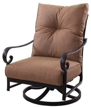 Darby Home Co Carlitos Deep Seating Swivel Rocking Chair with Cushions Darby Home Co