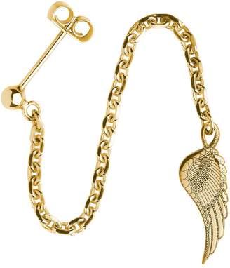 CarterGore - Gold Wing Single Long Drop Earring