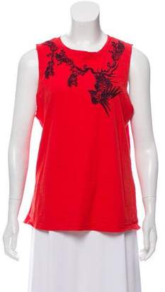 Elizabeth and James Sleeveless Embroidered Top