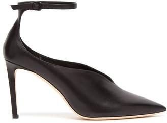 Jimmy Choo Sonia 85 point-toe ankle strap pumps