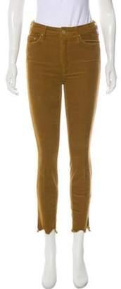 Mother Mid-Rise Corduroy Pants Gold Mid-Rise Corduroy Pants