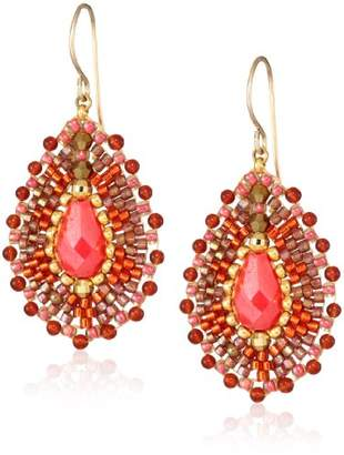 Miguel Ases Small Carnelian Tear Drop Earrings