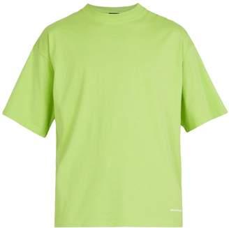 Balenciaga Crew Neck Cotton Jersey T Shirt - Mens - Green