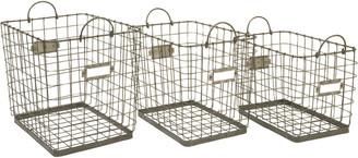 Imax Set Of 3 Newbridge Wire Storage Baskets