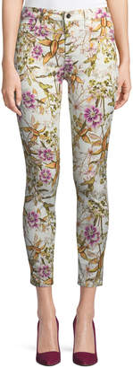 7 For All Mankind Jen7 By Havana Tropics Floral-Print Ankle Skinny Jeans