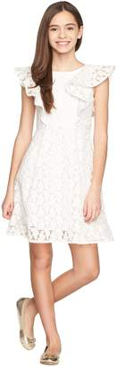Milly Minis MillyMilly Floral Embroidery Ruffle Dress