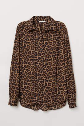 H&M Long-sleeved Blouse - Beige