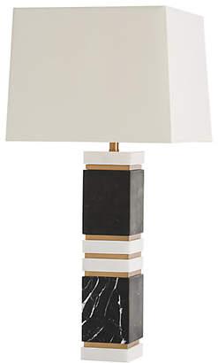 Arteriors Dustin Marble Table Lamp - Black/White