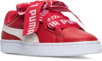 Puma Women's Basket Heart De Casual Sneakers from Finish Line