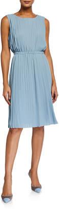 Maggy London Pleated Flirty Sleeveless Dress
