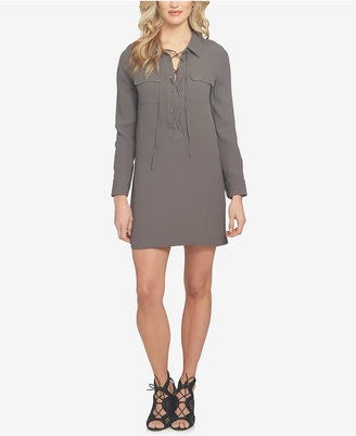 1.state Lace-Up Shirtdress $119 thestylecure.com