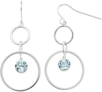 Brilliance+ Brilliance Swarovski Crystal Double Hoop Earrings