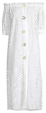 56becdb3c7 Paper London Women's Esther Cotton Eyelet Coverup Dress