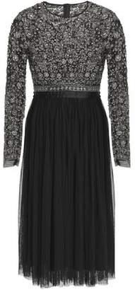 Needle & Thread Embellished Embroidered Pleated Tulle Dress