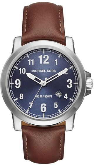 MICHAEL Michael Kors Women's Micheal Kors 'Paxton' Leather Strap Watch, 43Mm
