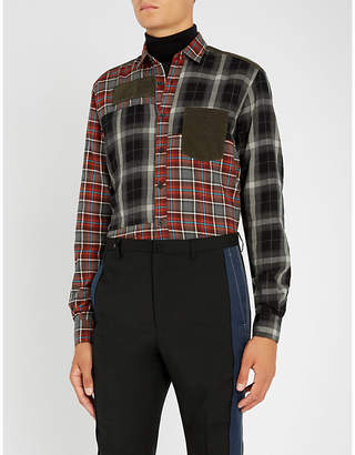 Lanvin Checked tailored-fit cotton shirt