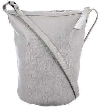 Kara Grained Leather Bucket Bag