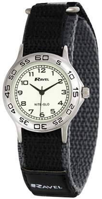 Ravel Nite-Glo Quartz Glow in the dark Dial Velcro Boys Watch R1708.13