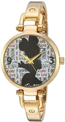 Disney Minnie Mouse Women's Alloy Bridle Watch