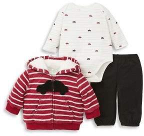 Little Me Baby Boy's Three-Piece Car Cotton Jacket, Bodysuit & Pants Set