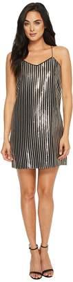 CeCe Mia Stripe Sequin Slip Dress Women's Dress