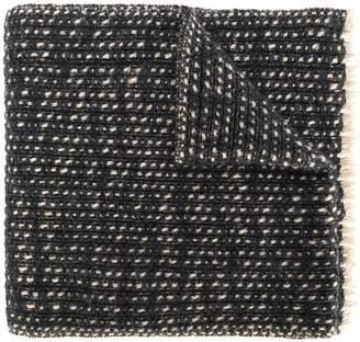 Eleventy frayed knit scarf