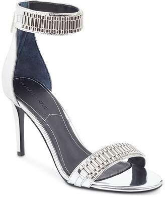 KENDALL + KYLIE Women's Miaa Chain Detail Mid Heel Sandals